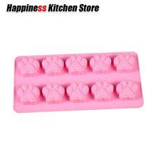 Non-stick Silicone Chocolate Molds Cookie Cat Dog Paw Print Animal Ice Mold Sugar Craft Candy Cake