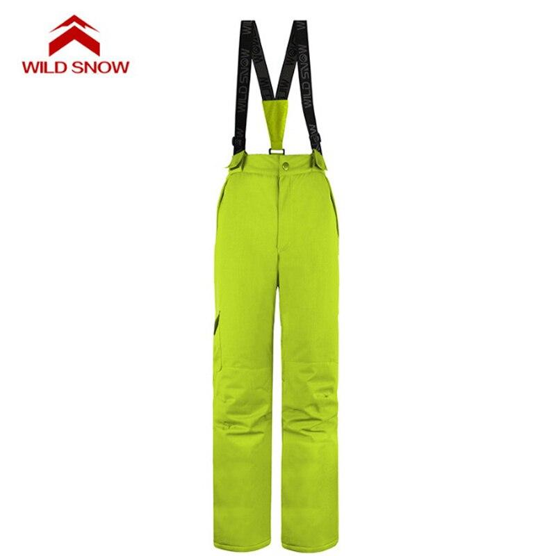 Pantalon de Ski hydrofuge femme hiver sports de plein air snowboard bavoir salopette pantalon coupe-vent Ski des neiges pantalon S-XXL - 6