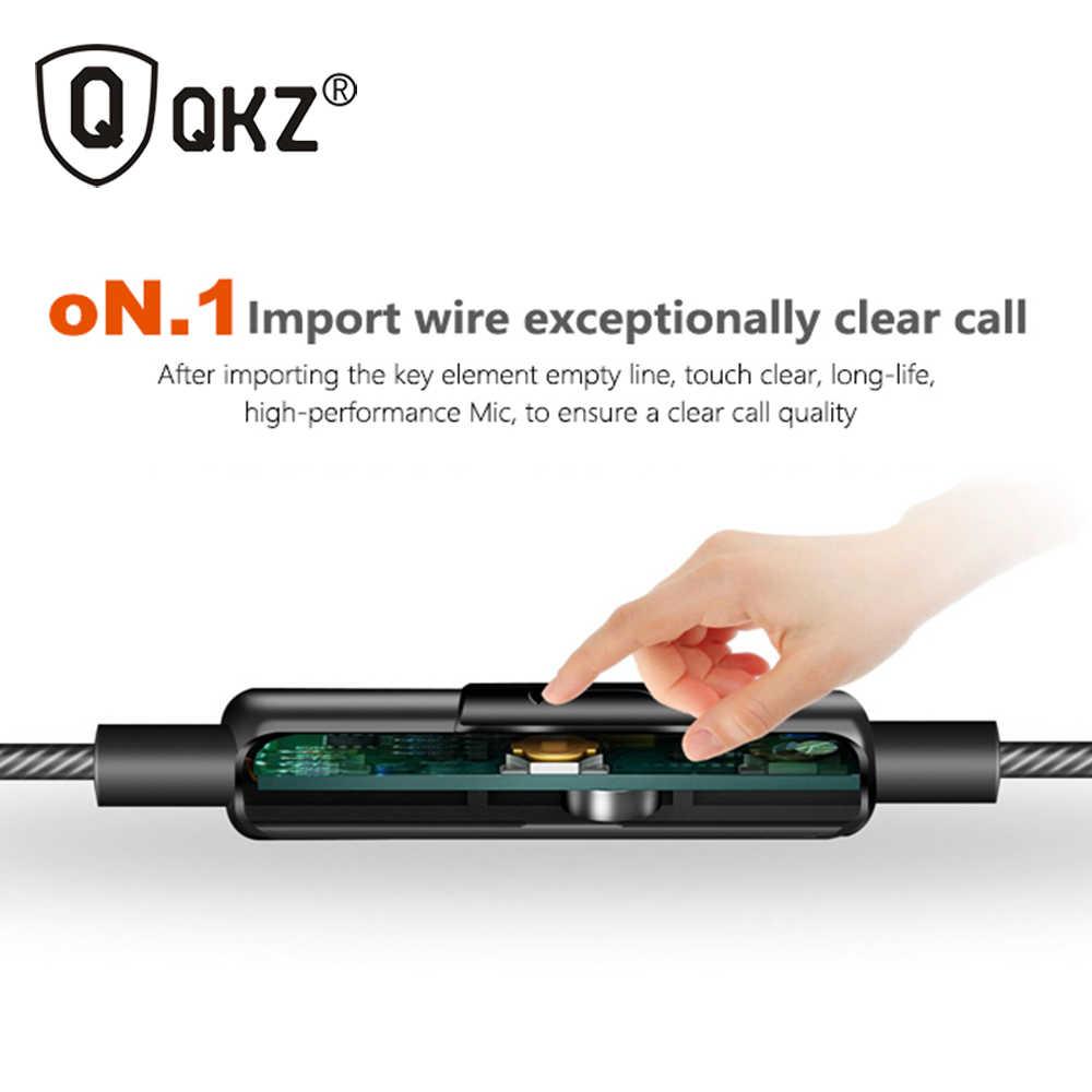 Ban đầu QKZ DM9 Kẽm Hợp Kim HiFi Tai Nghe 3.5mm In-Ear auriculares Siêu Rõ Ràng Tiếng Ồn Cô Lập Mic MP3 MP4 fone de ouvido