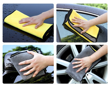30 * 30 CM Car Wash Microfiber Towel for BMW X-series 3-series 5-series 7-series E F-series image