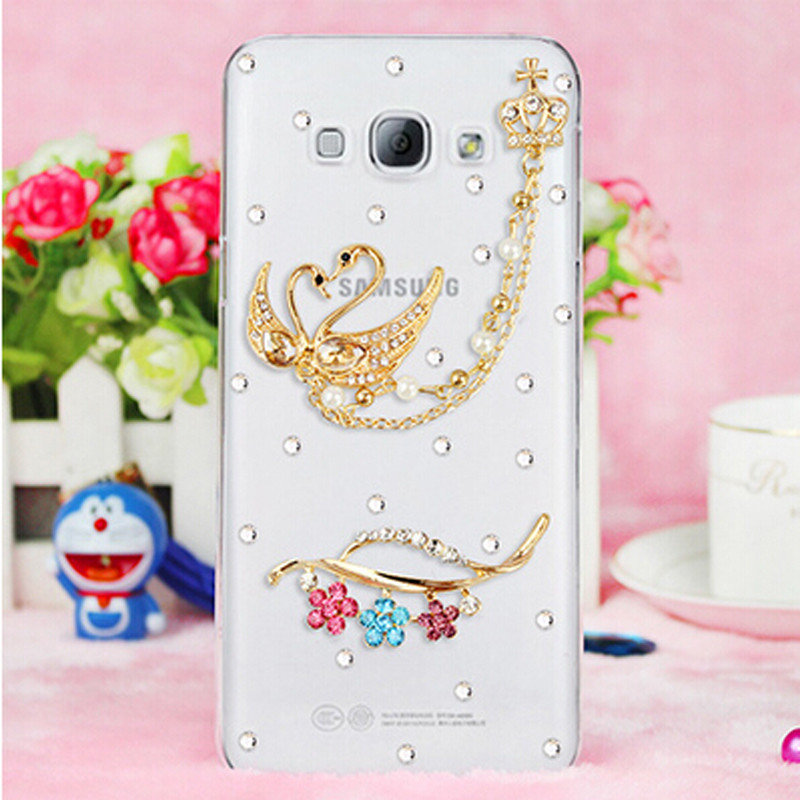 3D zebra bling Swan Crystal <font><b>diamond</b></font> Cell <font><b>Phone</b></font> Shell back cover hard <font><b>case</b></font> For Samsung Galaxy Grand Neo <font><b>i9060</b></font> i9118 i9080 i9082