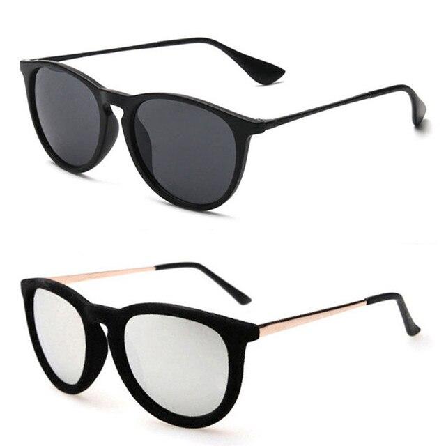87b26abb3d Ronda de Terciopelo y Liso Marco Mujeres gafas de Sol Negro Leopard Vintage Espejo  Lente Gradiente