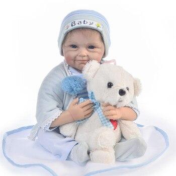 Bebes reborn de silicone real boy bebe alive newborn dolls 22inch 55cm hot sale children gift boneca reborn