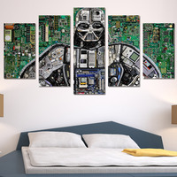 Wall Art Picture Robot Internal Components Structure Circuit Diagram Art Canvas Painting Printed For Living Room