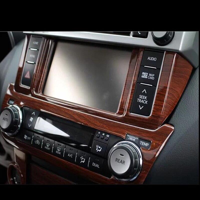 Pour TOYOTA Prado 2700 2010-2016 bois ABS Chrome voiture avant climatiseur sortie de ventilation garniture moulures voiture style - 4