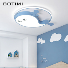 BOTIMI Children LED Ceiling Lights With Metal Lampshade For Kids Room Princess Mounted Acrylic 220V Toy Lamp Fixtures