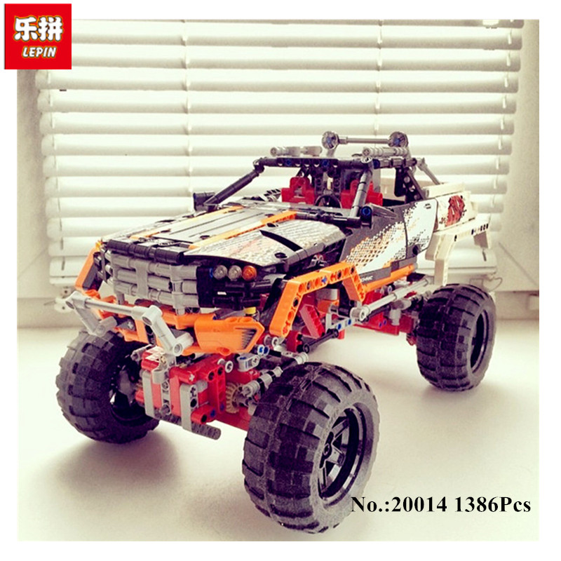 Lepin 20014 1386PCS Technic Series Ultimate Version The Remote-Control Four-Wheel Drive Off-road Vehicles Building Blocks Toy