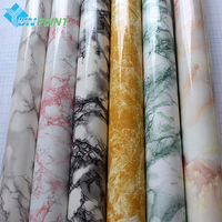 Self Adhesive Marble Pattern PVC Wallpaper Stickers Modern Removable Stone Effect Vinyl Wall Paper For Kitchen