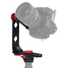 Andoer Bolsa de transporte para cámara Nikon Canon Sony DSLR, cabezal panorámico de 720 grados, aleación de aluminio con rótula de bola, placa de liberación rápida