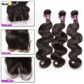 7A Brazilian Virgin Hair With Closure Cheap Brazilian Human Hair Weave 3 Bundles Brazilian Body Wave With Lace Closure