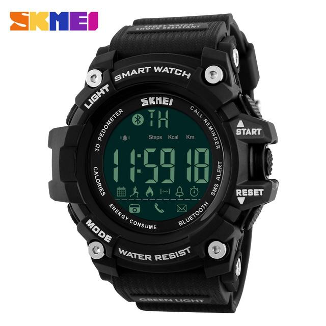 Skmei hombres inteligente podómetro calorías moda cronógrafo relojes deportivos gimnasio rastreador bluetooth ios android digital de pulsera