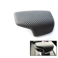 Black perforated leather selector lever handle Gear Shift Knob handball cover For Audi A4 B9 A5 Q7 2016 2017 2018 4M1 713 139F
