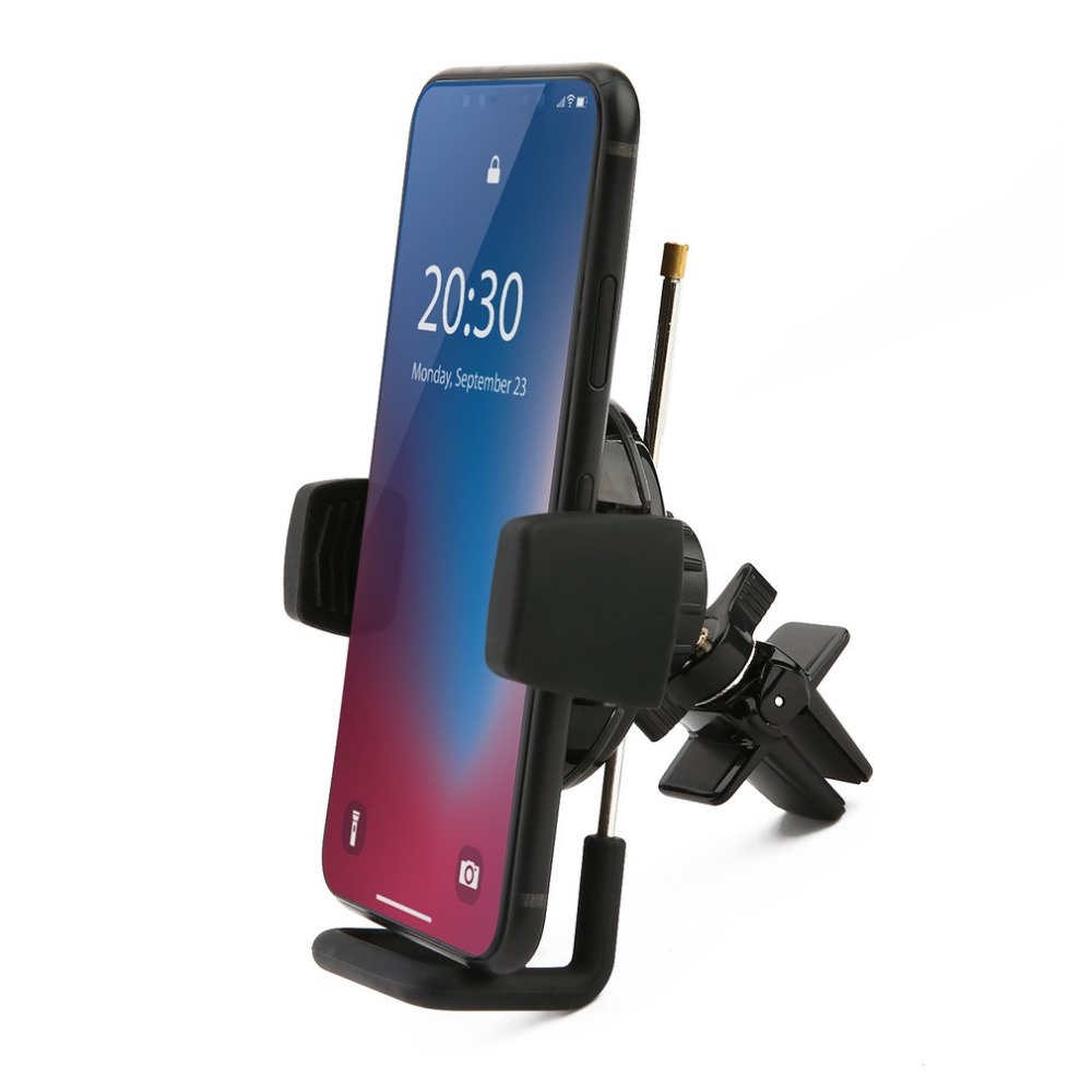 Car Telescopic Fast Wireless Charging Vent Clamp Universal Mobile Phone Fast Charge Bracket 360 Degree Rotation Holder Charger