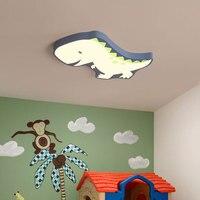 Dinozaur nowoczesne lampy sufitowe LED dla dzieci pokój chłopcy dziewczęta lampka do sypialni Cartoon LED lampy sufitowe dla dzieci pokój do nauki w Oświetlenie sufitowe od Lampy i oświetlenie na