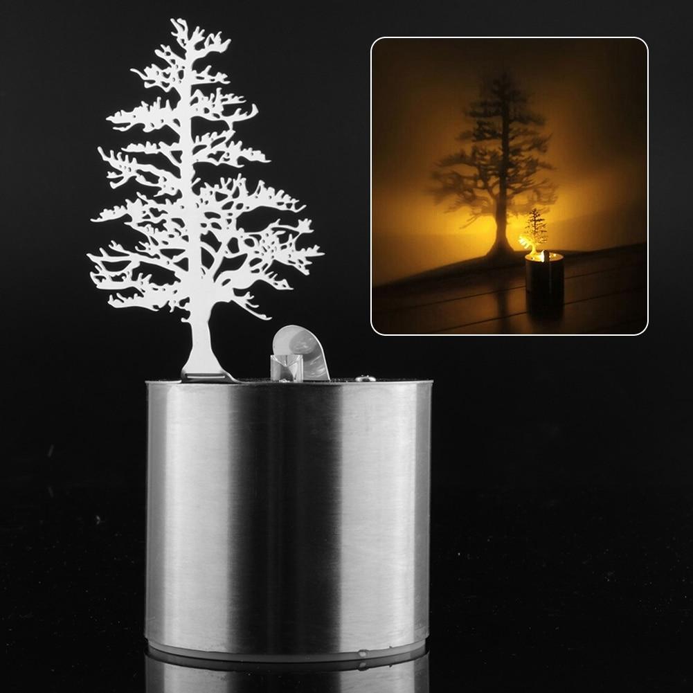 Pine Tree Romantic Dreamlike LED Shadow Creative Projector Candle ... for Tree Shadow Lamp  111bof