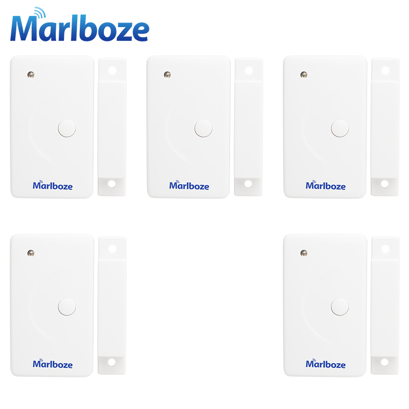 imágenes para Marlboze 5 unids/lote 433 MHZ Alta Calidad Casa de Seguridad Inalámbrica Ventana de La Puerta Sensor Detector para el Sistema de Alarma de PSTN GSM WIFI