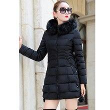 Faux Fur Parkas Women Down Jacket  Thicken Outerwear hooded Winter Coat
