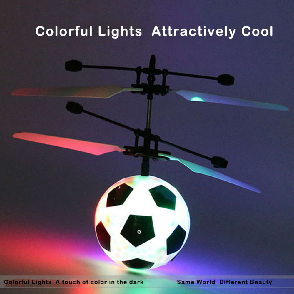 Kids Remote Control Aircraft Soccer Shape Shaped Luminous Intelligent Induction Flying Ball Induction Toy for Children Adult