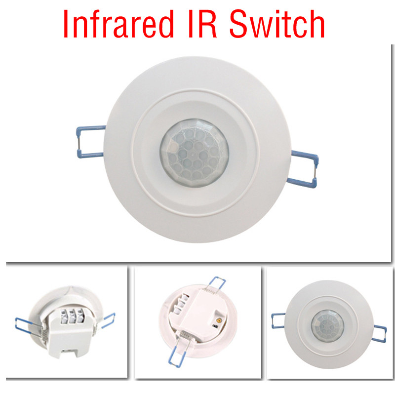 New 360 Degree Human Body Mini Recessed PIR Ceiling Occupancy Motion Sensor Detector Switch Auto On Off Lights Lamps 220v CM076 energy saving 7w led ceiling downlight with pir human body motion sensor automatical switch