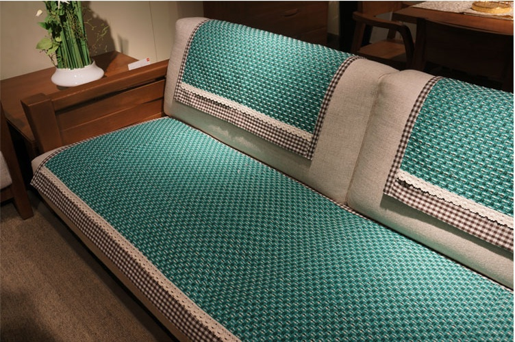 Hbz44 Fabric Couch Sofa Loveseat Pet Furniture Slip Cover Protector Cloth Towel Tablecloth Green Pastora Rectangle 1 2 3 Seater In From Home