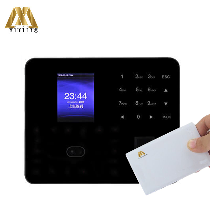 P2P Cloud Service ZK PF1000 Card Time Attendance With 13.56MHz IC Card Biometric Face Time Attendance Fingerprint Access Control