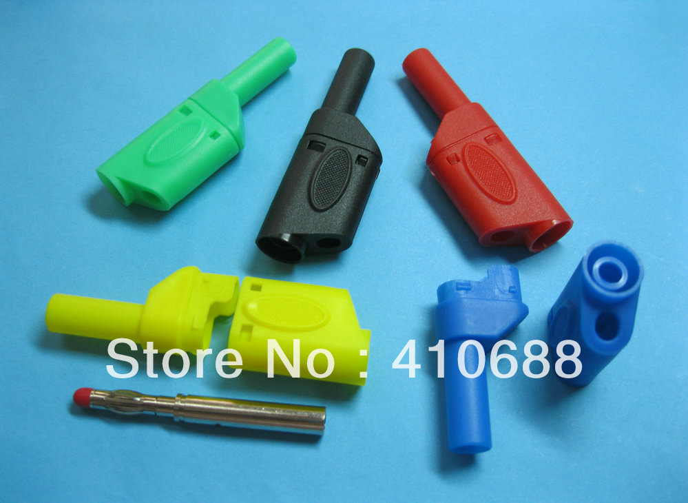 US 5 color 4mm Banana Female Jack for Seal Insulated Stackable 4mm Banana Plug