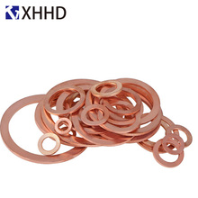 Flat Copper Washer Metal Solid Gasket Sump Plug Oil Seal Ring Fitting Fastener HardwareM5 M6 M8 M10 M12 M14 M16 M18 M20 M22 M24