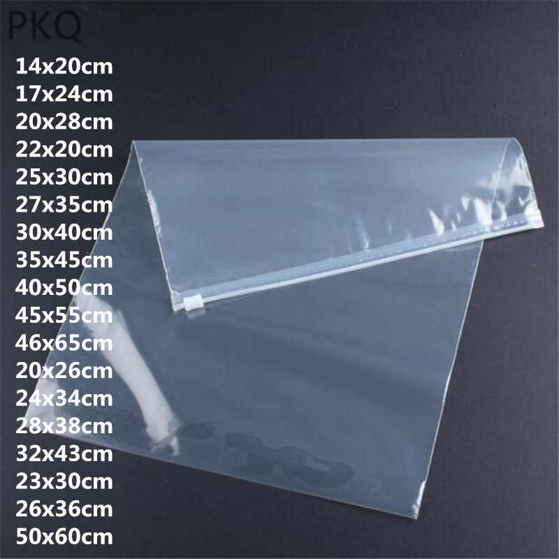 18 sizes Free shipping small ziplock bags for travel Clear Plastic Storage Bag Zip Lock Seal Packaging bag For clothes 10pcs