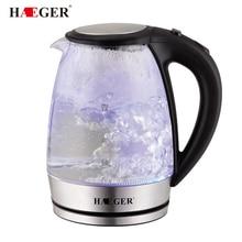 2Л стеклянный Электрический чайник автоматически выключается из нержавеющей стали анти-горячий Электрический чайник Бытовая кухонная техника HAEGER
