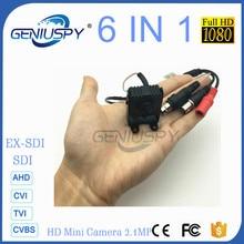 New 1080P SDI Mini Camera 2.0MP 1/3 Panasonic Starlight 0.0008LUX Full Hd Sdi Mini Camera Support TVI/CVI/AHD/CVBS/E-SDI/SDI