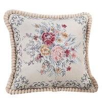 Handmade Embroidery High Quality Bird Printed Animal Cotton Cushion Or Cushion Cover Sofa Car Bed Chair
