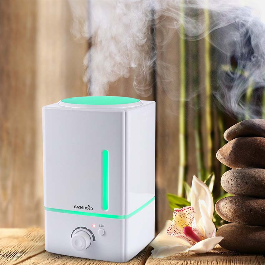 1.5L Essential Oil Diffuser Advanced Ultrasonic Cool Mist Humidifier With 7-Color LED And Auto Safety Shut-Off For Home