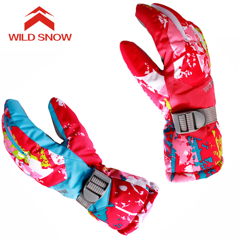 Women Ski Gloves Windproof Warm Winter Skiing Snowboarding Gloves Snowmobile Motorcycle Riding Waterproof Outdoor Snow Gloves