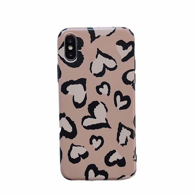 Lovely Heart Retro Leopard Case For iPhone 5