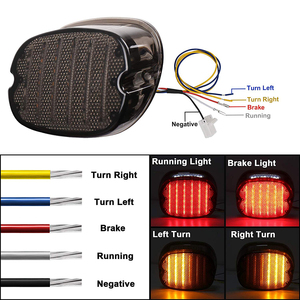 Image 4 - LED Taillight with Braking Turn Signal 1 pcs Replacement Tail Light for Harley Dyna Road King Electra Glide Street Bob Touring