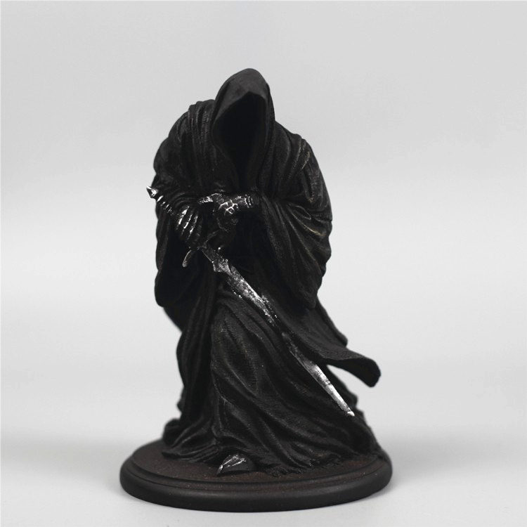Resin Statue Figure The-Rings Riders Ringwraiths-Model Dark-Knight Witch King Black Decoration