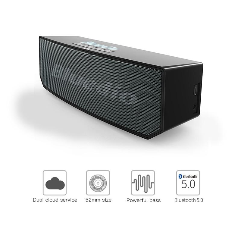 Bluedio BS-6 Mini altavoz portátil Bluetooth inalámbrico BT 5,0 con micrófono Smart Cloud altavoz Control de voz