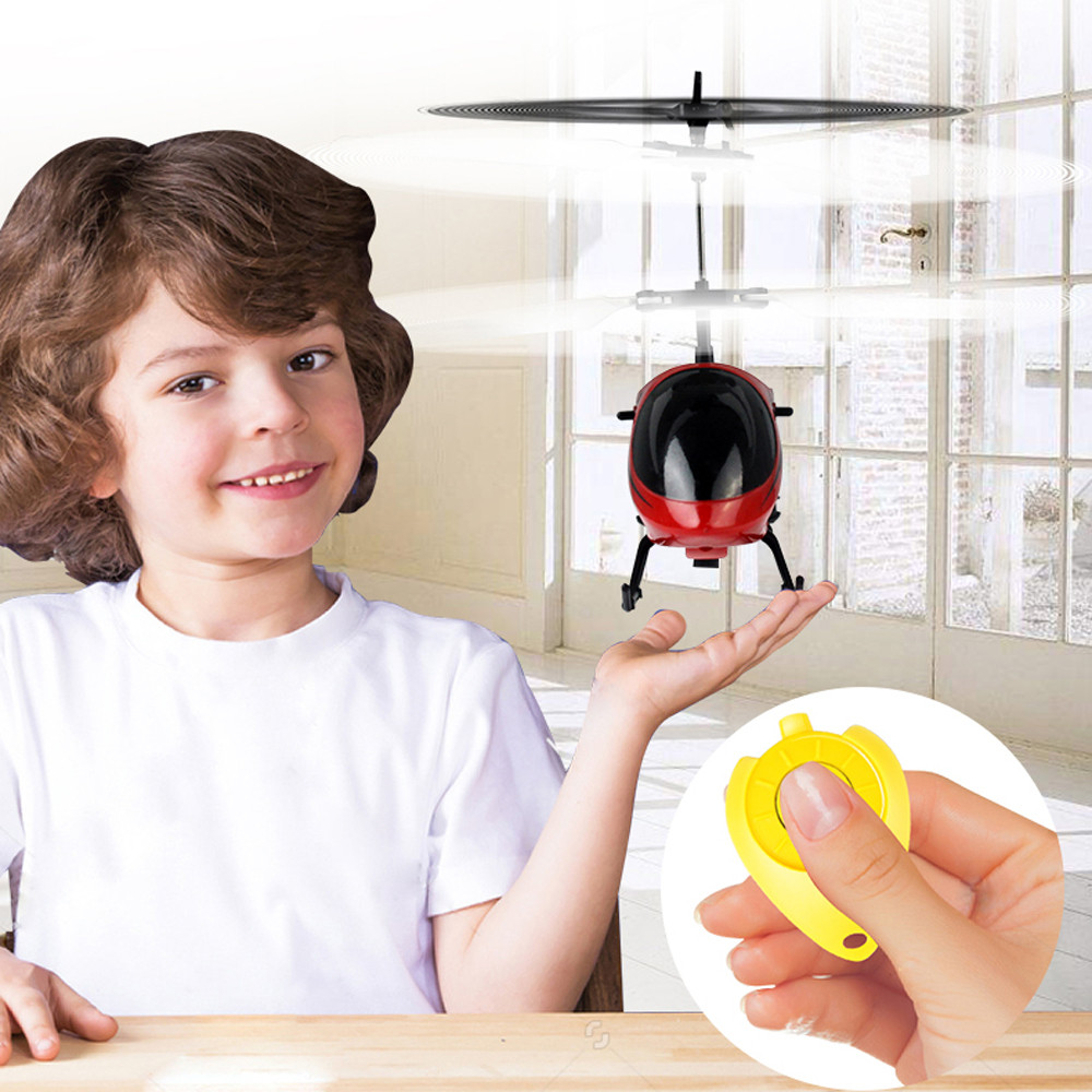 Oprecht Vliegende Mini Rc Infraed Inductie Helicopter Vliegtuigen Knipperlicht Speelgoed Voor Kinderen + Afstandsbediening Ma9m30