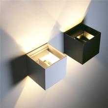 12 Вт светодиодный настенный светильник Открытый водонепроницаемый IP65 Настенные светильники крыльцо садовые светильники спальня прихожая крыльцо балкон украшения