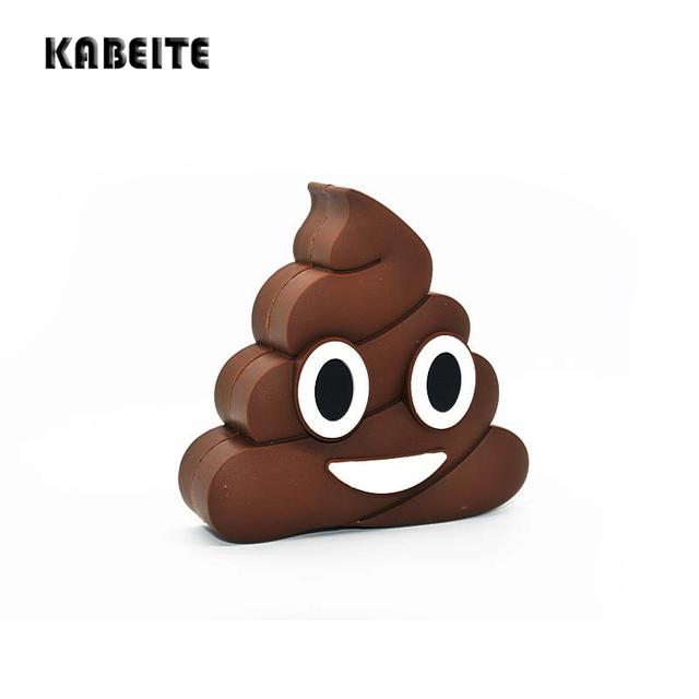 KABEITE 2500 mAh Banco de la Energía Diseño Divertido Caca Emoji Dibujos Animados Portátil Cargador de Batería Del Teléfono