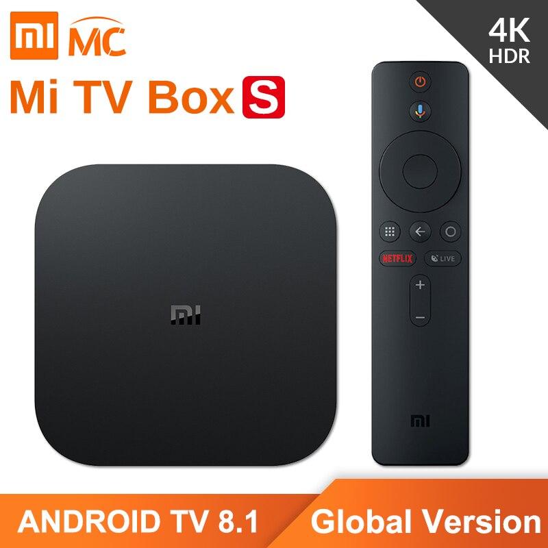 Version originale mondiale Xiao mi mi TV Box S 4K HDR Android TV 2G 8G WIFI Google Cast Netflix IPTV décodeur 4 lecteur multimédia