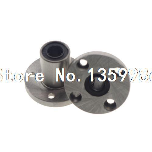 (2) Round Flange Type CNC Linear Motion Bushing Ball Bearing LMF20UU 20*32*42mm цена