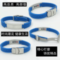 1500 Negative ion 4 in 1 bio elements power energy wrist band magnetic silicone bracelet for balance body