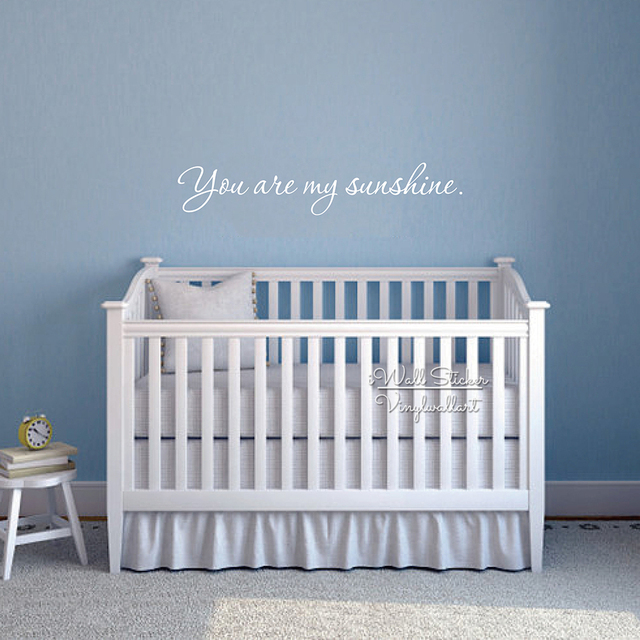 You Are My Sunshine Quotes Wall Decal Baby Nursery Sticker Diy Modren Vinyl
