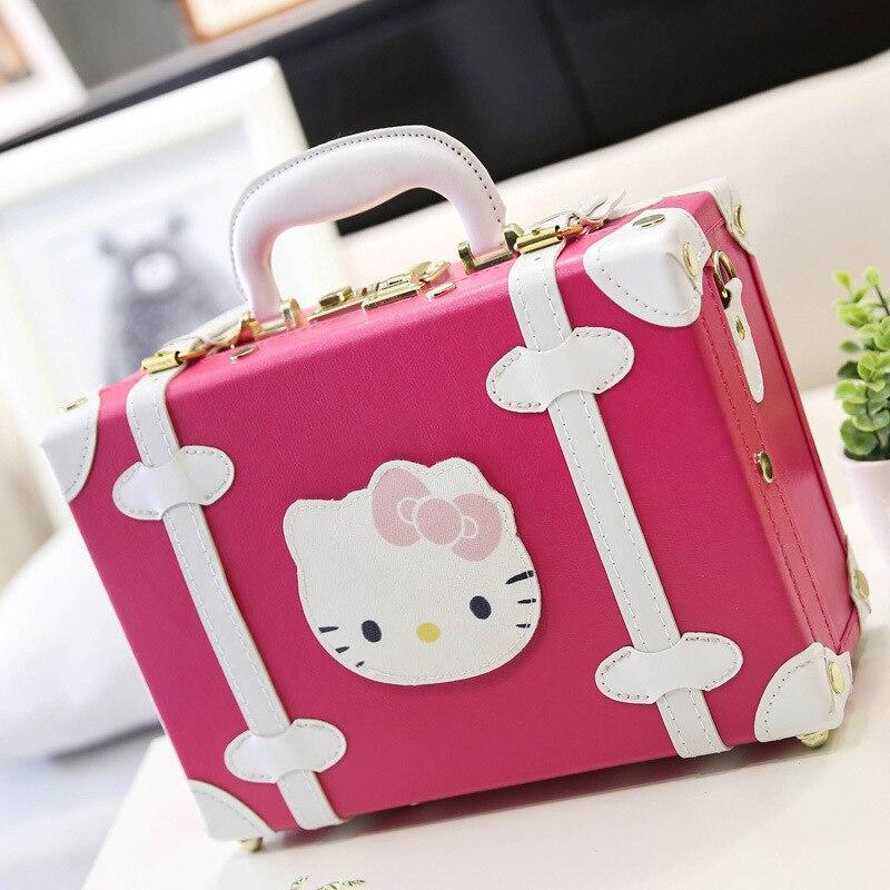 14 tums bärbar rosa kosmetisk malas duffelväska Hello Kitty - Väskor för bagage och resor - Foto 3