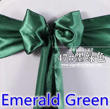 Emerald xanh màu chất lượng cao satin sash bow cho chủ tịch covers sash spandex đảng và trang trí đám cưới bán buôn