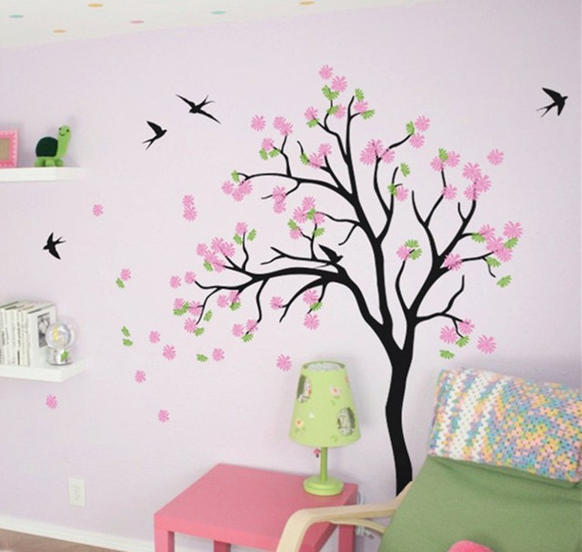 Special Baby Nursery Tree Wall Decals - Blossom Flower Tree Decal with Birds DIY Home Decoration  sc 1 st  AliExpress.com & Special Baby Nursery Tree Wall Decals Blossom Flower Tree Decal with ...