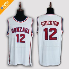 cdfdd94e8b2c John Stockton Basketball Jersey 12  Gonzaga Bulldogs College High Quality  Breathable fabrics Sleeveless Jerseys Throwback