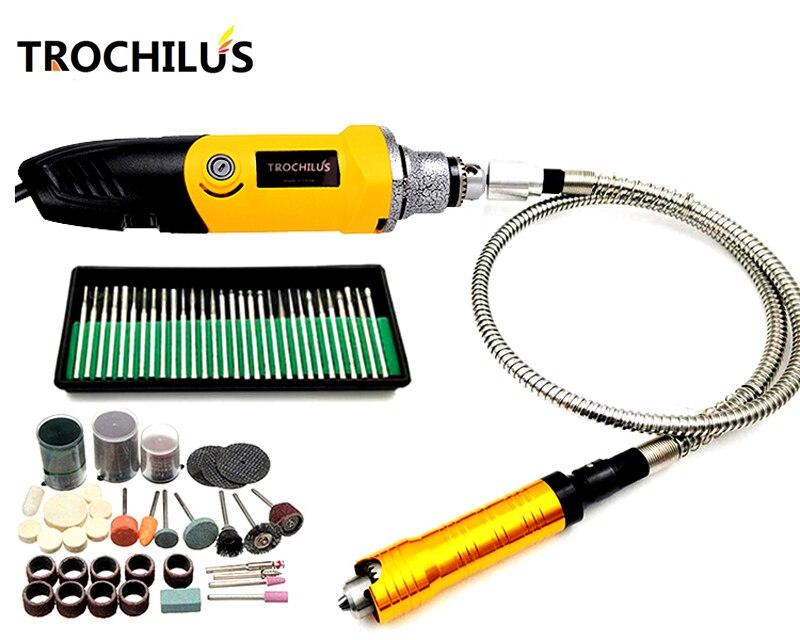 Troutilus 400 W Mini Grinder DIY Électrique Rotatif Outils De Meulage Électrique Graveur Dremel mini forage Électrique Outil kits