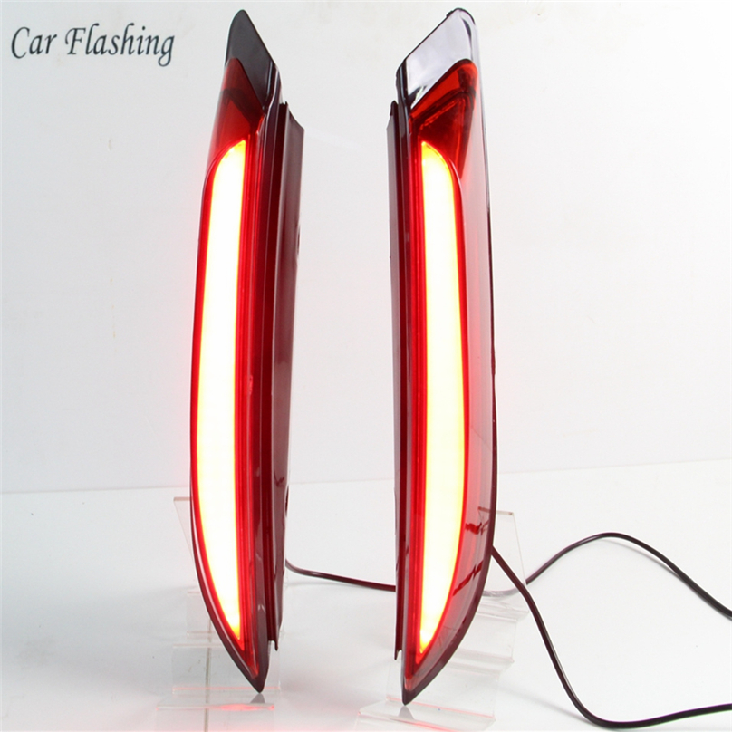 Car Flashing 1set for ford Everest 2016 2017 2018 LED DRL Rear Bumper tail light fog
